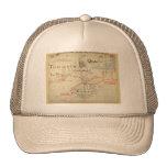 Un mapa auténtico de 1690 piratas (con adornos) gorras de camionero