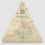 Un mapa auténtico de 1690 piratas (con adornos) calcomanía triangulo personalizadas