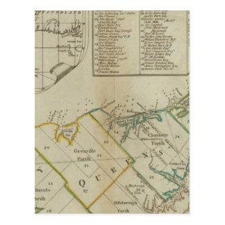 Un mapa de la isla de St John Postal
