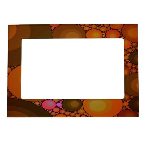 Un marco superior del imán del modelo abstracto marcos magneticos