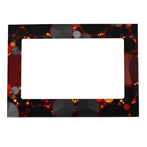 Un marco superior del imán del modelo abstracto marcos magneticos para fotos