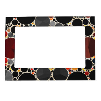 Un marco superior del imán del modelo abstracto foto de imanes