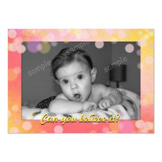 Un más viejo cumpleaños del oro del bebé del jalón invitación 12,7 x 17,8 cm