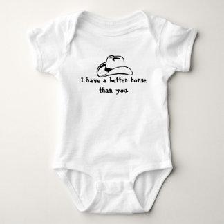Un mejor caballo que usted… body para bebé