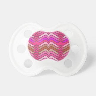 Un modelo de onda rosado de neón moderno chupetes