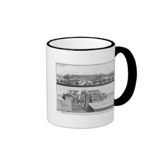 Un molino de papel tazas de café