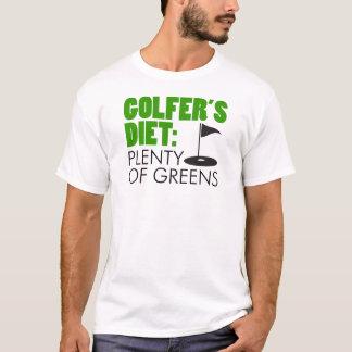 Un montón de la dieta del golfista de verdes camiseta