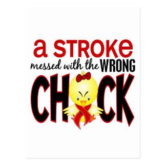 Un movimiento ensuciado con el polluelo incorrecto tarjetas postales