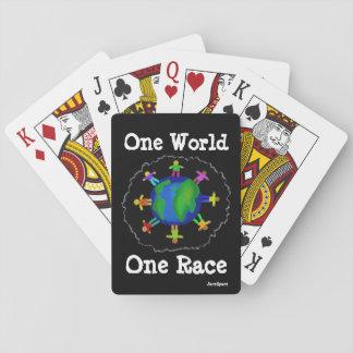 Un mundo, una raza baraja de cartas