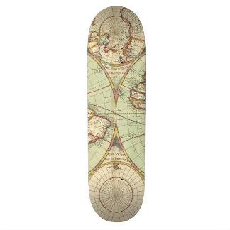 Un nuevo mapp del atlas del mundo tabla de skate