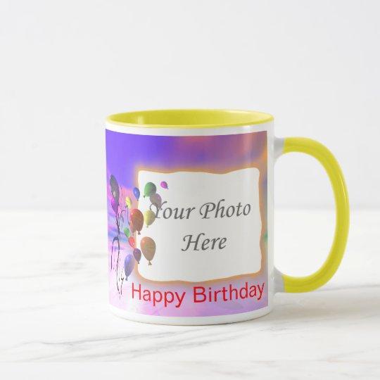 Un nuevo marco brillante del cumpleaños 2-Photo Taza