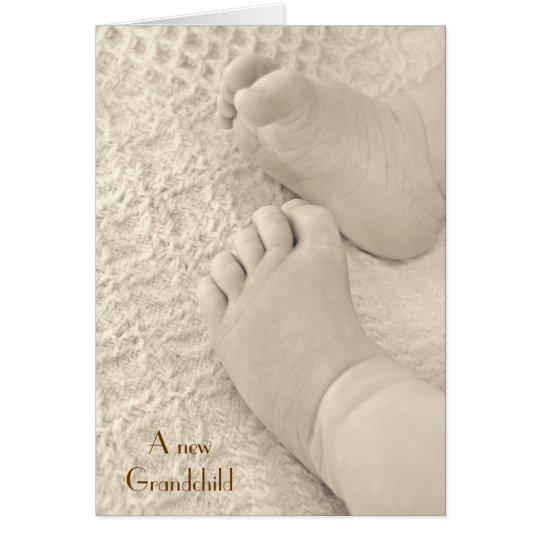 Un nuevo nieto tarjeta de felicitación