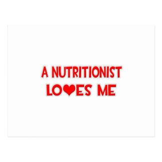 Un nutricionista me ama postal