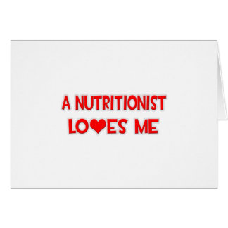 Un nutricionista me ama tarjeton