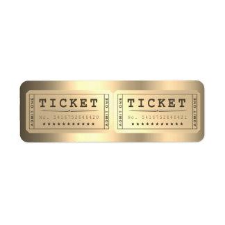Un oro más astuto de la demostración del boleto de etiqueta de remite