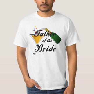 Un padre de la tostada de Champán de la novia Camisetas