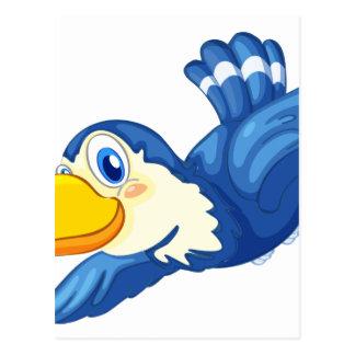 Un pájaro azul postal