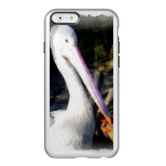 Un pájaro blanco y su pico grande funda para iPhone 6 plus incipio feather shine