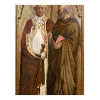 Un papa y un St. Matías, c.1428-29 Postal