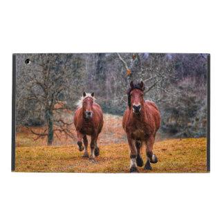 Un par de caballos corrientes iPad carcasas