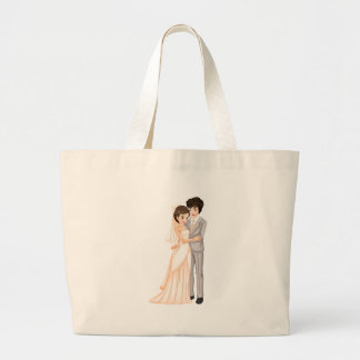 Un par del nuevo-casar bolsa tela grande