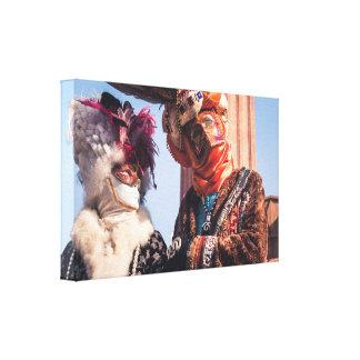 Un par en el carnaval de Venecia Lienzo