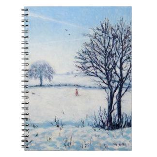 Un paseo de los inviernos libro de apuntes con espiral