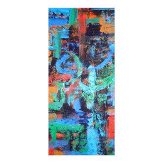 Un paseo en el bosque - arte abstracto diseños de tarjetas publicitarias