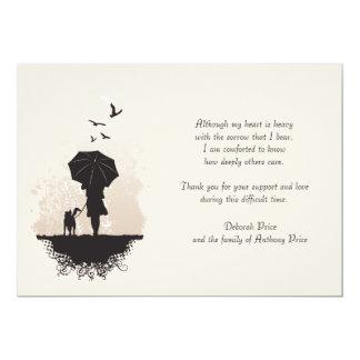 Un paseo en la pérdida de la lluvia le agradece invitación 12,7 x 17,8 cm