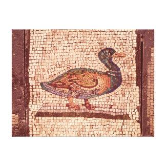 Un pato, detalle de Orfeo que encanta los animales Lona Envuelta Para Galerías
