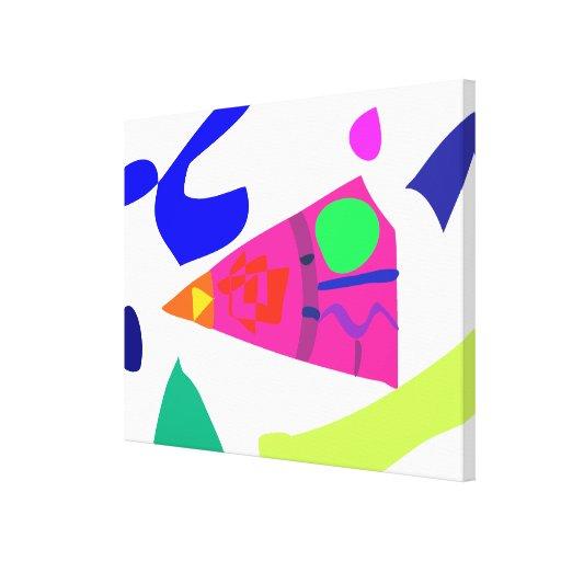 Un pedazo de sandía lona estirada galerias