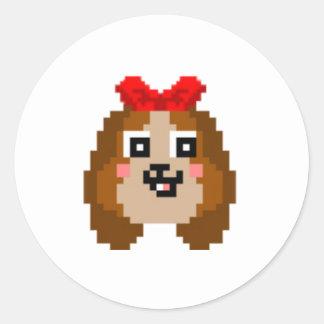 Un pegatina con un beagle en él