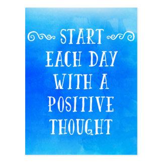 Un pensamiento positivo postal
