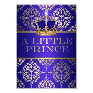 Un pequeño príncipe fiesta de bienvenida al bebé invitación 12,7 x 17,8 cm