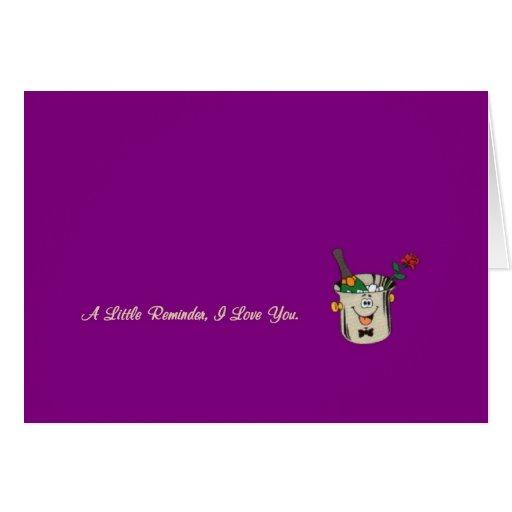 Un pequeño recordatorio, te amo tarjeta con Champá