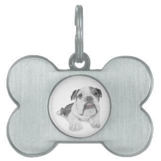 Un perrito descarado del dogo placa para mascotas