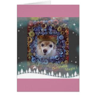 un perro astuto tarjeta