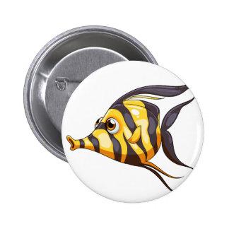 Un pescado raya-coloreado chapa redonda 5 cm