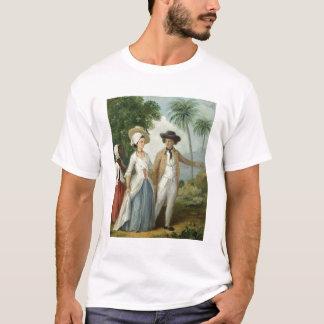 Un plantador y su esposa, asistidos por un criado, camiseta