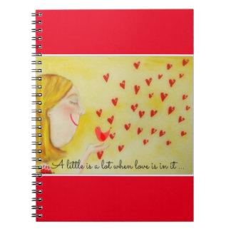 Un poco es mucho cuando el amor está en él cuadernos