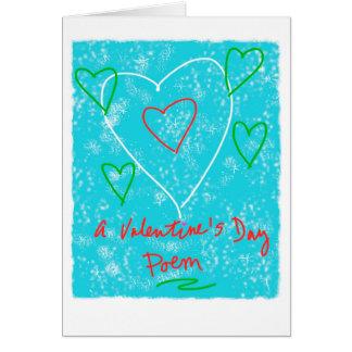 Un poema del el día de San Valentín Tarjeta De Felicitación