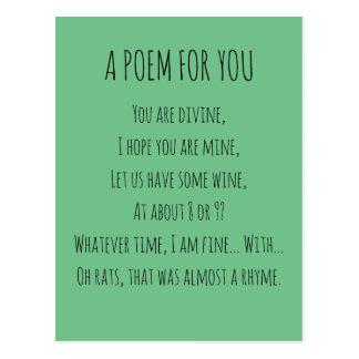 Un poema para usted postal