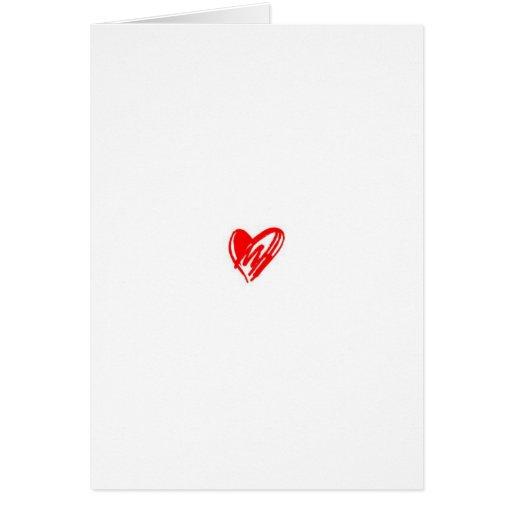 Un poema simple del amor tarjeta