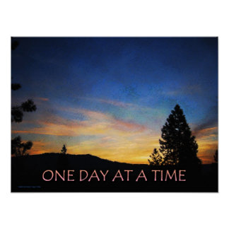 Un poster de la salida del sol del día a la vez