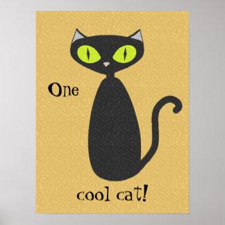 Un poster fresco del gato