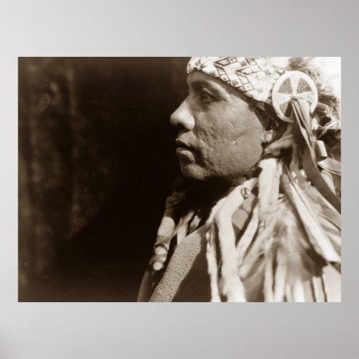 Un poster indio del hombre del nativo americano de