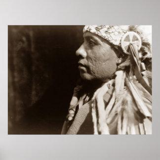 Un poster indio del hombre del nativo americano de póster