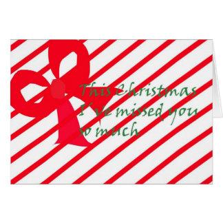 Un presente para mi navidad tarjeta de felicitación