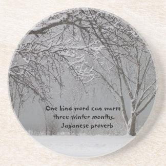 Un proverbio palabra-Japonés bueno Portavasos