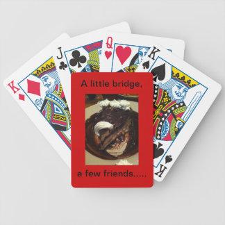 Un puente del litte, algunos amigos…. naipes baraja cartas de poker
